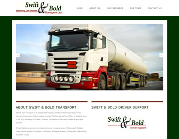 Swift and Bold Transport Fuel Tanker Haulage Company Essex